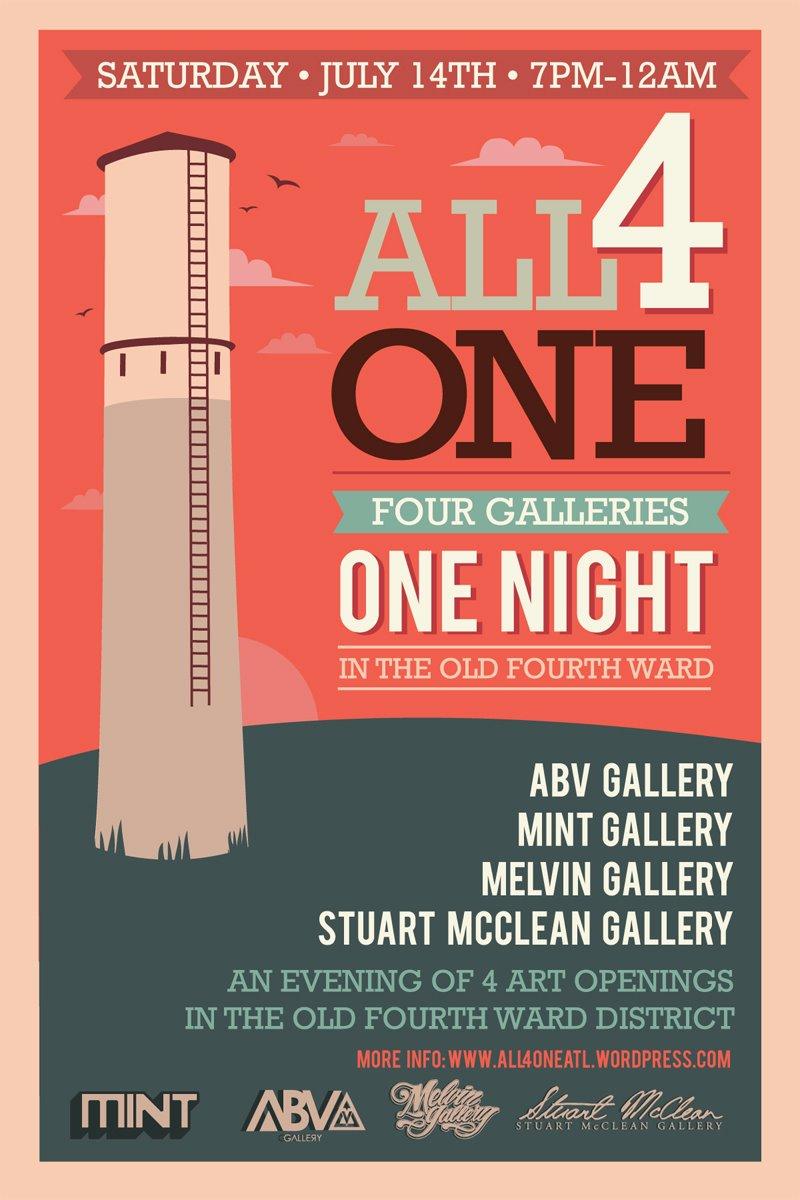 All 4 One- Old 4th Ward Gallery Crawl